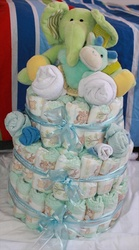 Nappy Cakes & Gifts- great for baby shower gifts.