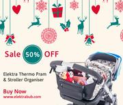 50% Off Christmas Special - Elektra Thermo Pram Organisers