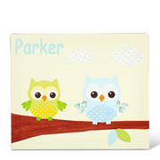 Personalised Baby Owl Canvas Arts